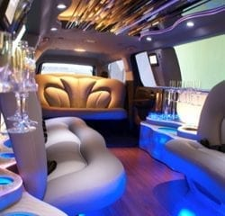 Las Vegas Stretched SUV Limo Transportation Interior 2