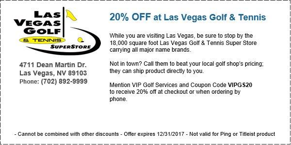 Las Vegas Golf and Tennis Coupon