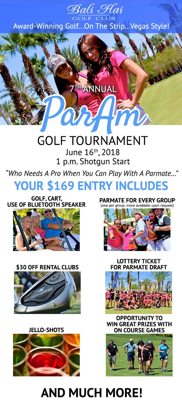 Bali Hai Golf Course Las Vegas ParAm Tournament 2018